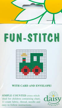 Train Daisy Designs Fun Stitch Card Kits