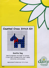 Scottie Dog Daisy Designs Fun Stitch Card Kits