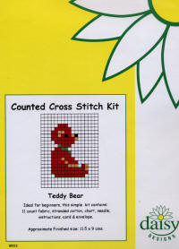 Teddy Bear Daisy Designs Fun Stitch Card Kits