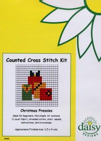 Christmas Presents Daisy Designs Fun Stitch Christmas Card Kits