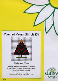 Christmas Tree Daisy Designs Fun Stitch Christmas Card Kits