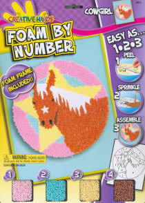 Foam by Number Kits Cowgirl