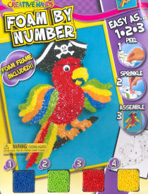 Foam by Number Kits Pirate