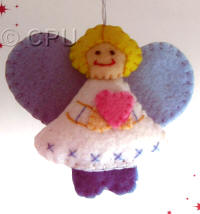 DoCrafts Mini Soft Christmas Kits - Angel with Yellow Hair