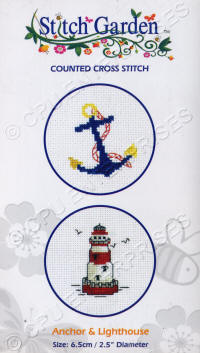 Anchor & Lighthouse Stitch Garden Counted Cross Stitch Kits