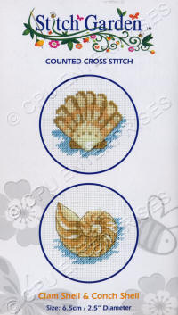 Clam Shell & Conch Shell Stitch Garden Counted Cross Stitch Kits