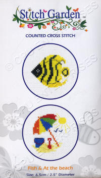 Fish & At the Beach Stitch Garden Counted Cross Stitch Kits