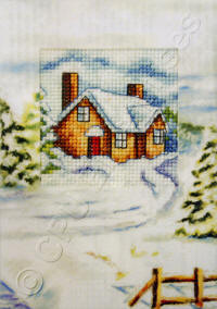 Printed Cottage Christmas Cards