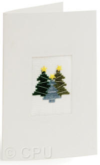 Christmas Tree Counted Cross Stitch Card Kit
