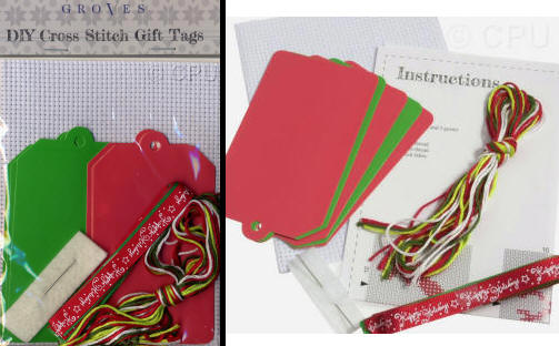 Large Picture of DIY Cross Stitch Gift Tags