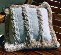 Artwork Knitting Kits Cable Cushion Cover - Front