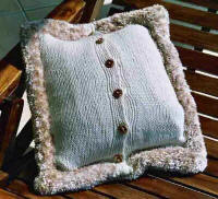 Artwork Knitting Kits Cable Cushion Cover - Back