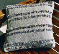 Artwork Knitting Kits Eyelet Cushion Cover - Front