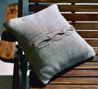 Artwork Knitting Kits Eyelet Cushion Cover - Back
